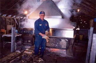George Ennis and the Old 5'x16' Small Bros Evaporator