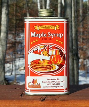 maple syrup metal can