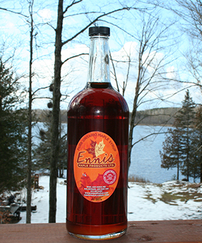 maple syrup glass bottle