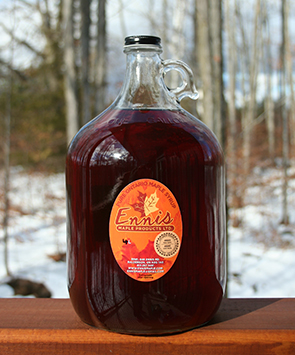 large maple syrup glass jug