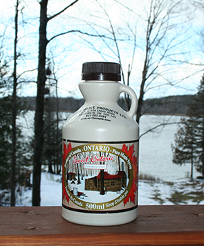 medium maple syrup plastic jug
