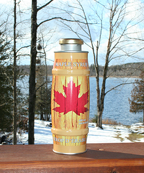 maple syrup - 500 ml barrel can