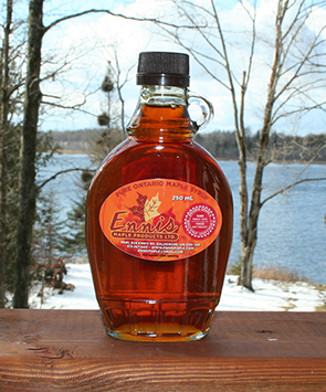 medium maple syrup glass jug
