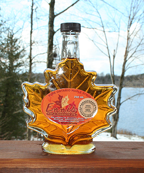 maple syrup maple leaf glass bottle